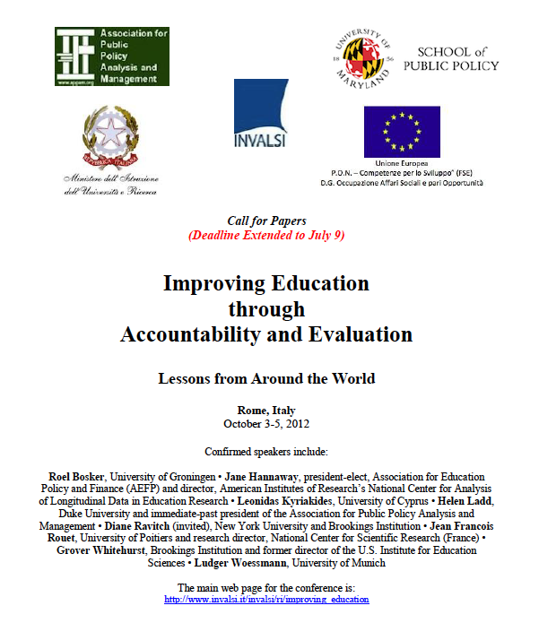 Improving Education through Accountability and Evaluation: Lessons from Around the World