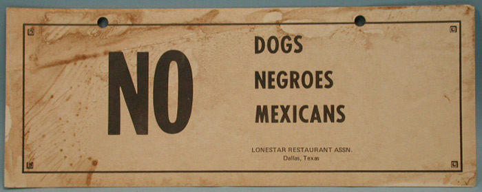 Segregation is alive and well in America's so-called land of opportunity 02no-dogs
