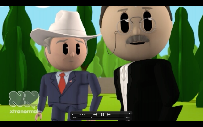 Animated Conversation: Dewey and Dubya