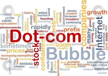 Dot-com bubble background concept
