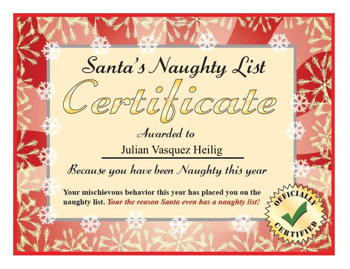 From the desk of santa claus letterstom letter from santa santa claus naughty list certificate zps32cb6ae7 spiritdancerdesigns Image collections