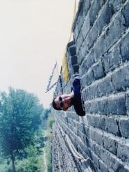 Julian at Great Wall of China in 1996 (Qinhuangdao)