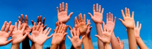 students hands