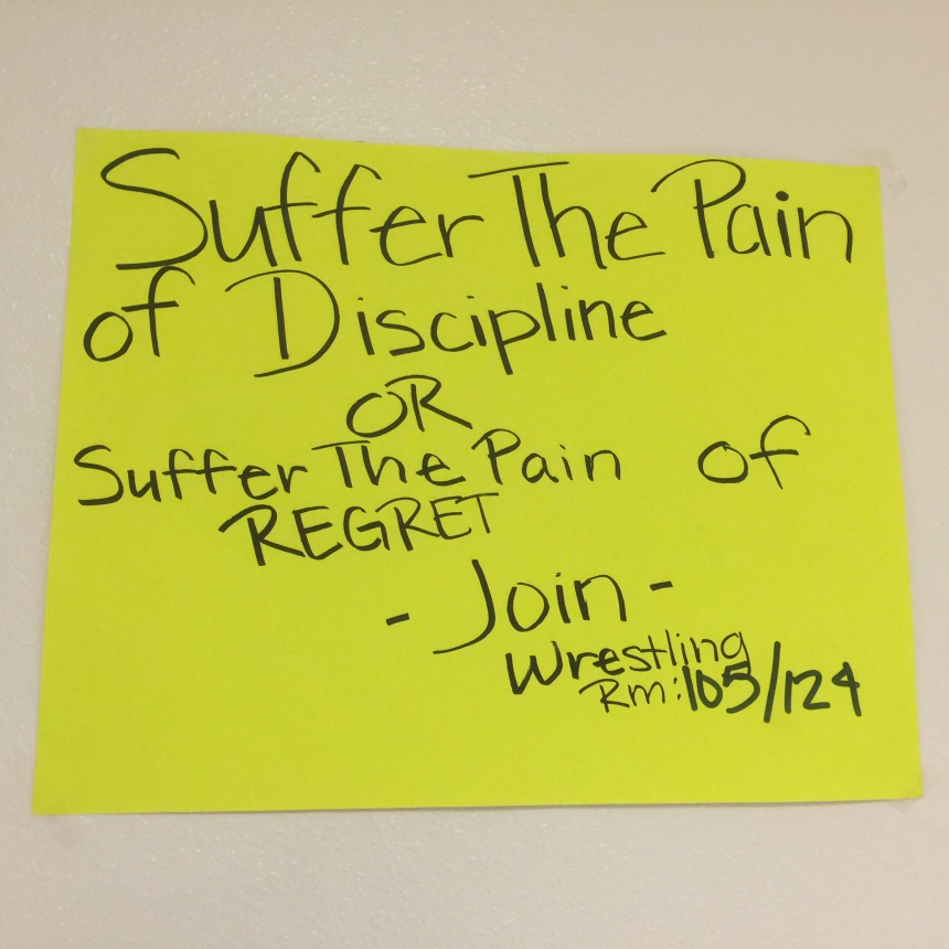 Wrestling team motivational poster