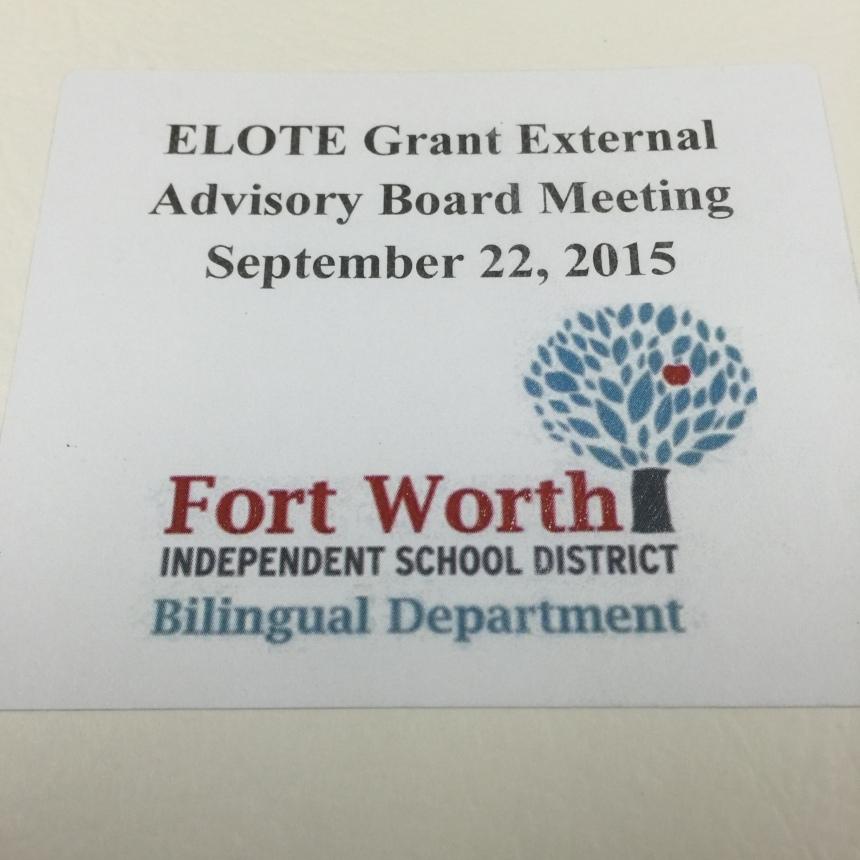 ELOTE advisory board materials