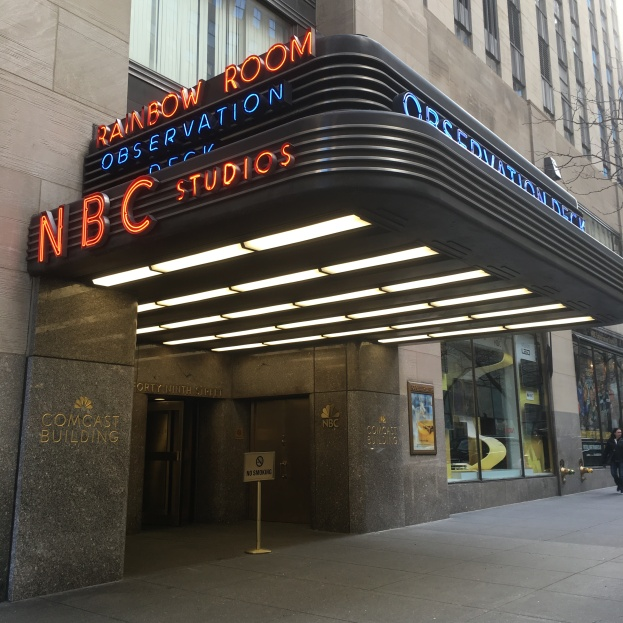 NBC marquee on 49th