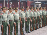 Chine soldiers in the Forbidden City