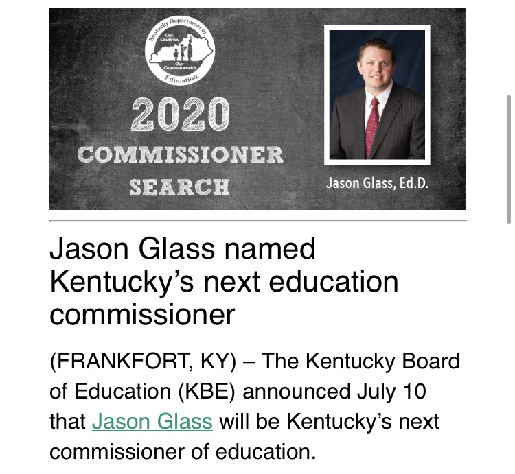 My thoughts on the Kentucky Commissioner of Education Decision