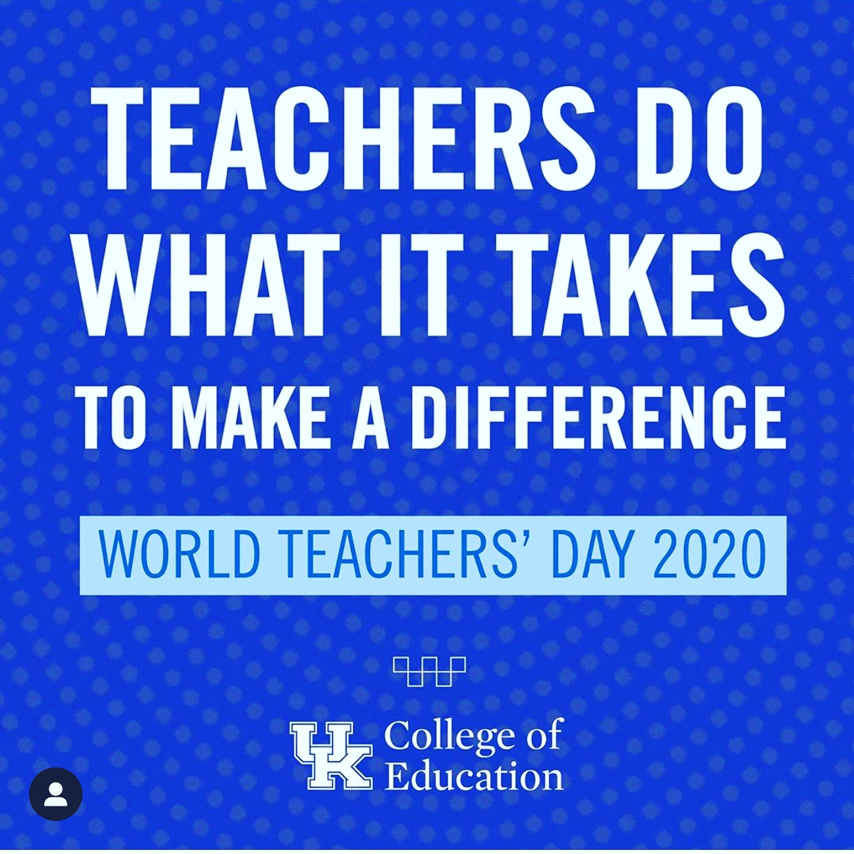 Thank you educators! #WorldTeachersDay